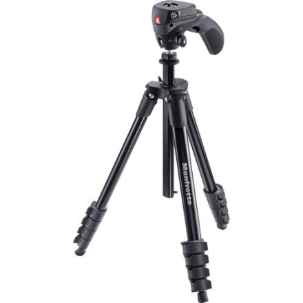 Manfrotto Compact Action Aluminum With Hybric Head (Black)