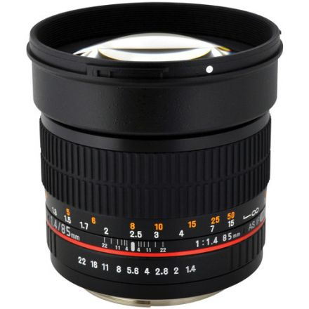 Samyang 85mm f/1.4 AS IF UMC Lens for Nikon F with AE Chip