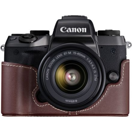 CANON EH28-FJ  LEATHER FACE JACKET FOR M10 BROWN