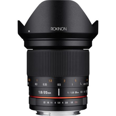 Samyang 20mm f/1.8 ED AS UMC Lens for Canon EF