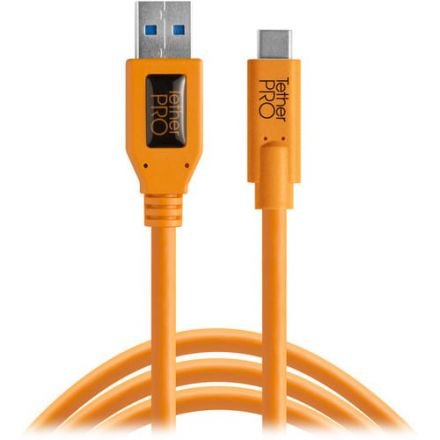 Tether Tools TetherPro USB Type-C Male to USB 3.0 Type-A Male Cable (CUC3215)
