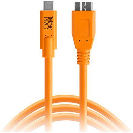 Tether Tools TetherPro USB Type-C Male to Micro-USB 3.0 Type-B Male (4.6m) (CUC3315-ORG)
