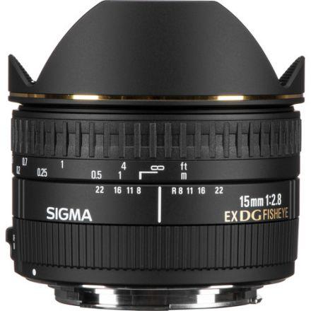 Sigma 15mm f/2.8 EX DG Diagonal Fisheye Lens for Nikon F