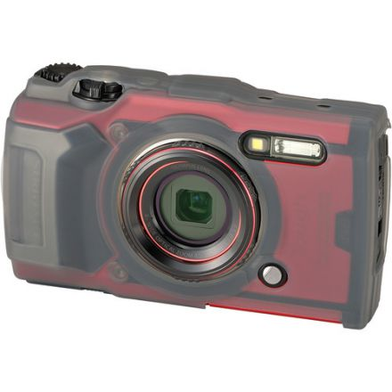 Olympus CSCH-127 Silicone Jacket for Tough TG-6 Digital Camera (Grey)
