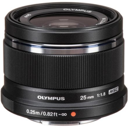 Olympus M.Zuiko Digital 25mm f/1.8 (Black) (Used)