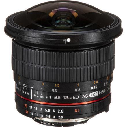 Samyang 12mm f/2.8 ED AS NCS Fisheye Lens for Nikon F with AE Chip