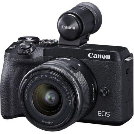 Canon EOS M6 Mark II Kit EF-M 15-45mm Και EVF-DC2 Viewfinder (Black)