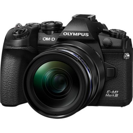 Olympus OM-D E-M1 Mark III Mirrorless Digital Camera & M.Zuiko ED 12-40mm f/2.8 PRO Kit