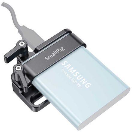 SmallRig Samsung T5 SSD Mount v2 for BMPCC 6K/4K & Z CAM E2 Cages