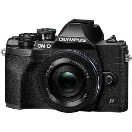 Olympus OM-D E-M10 Mark IV Mirrorless Digital Camera with 14-42mm Lens (Black)