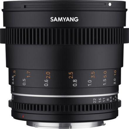 Samyang 50mm T1.5 VDSLR MKII Cine Lens for Micro Four Thirds Mount