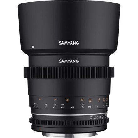 Samyang 85mm T1.5 VDSLR MKII Cine Lens for Micro Four Thirds Mount