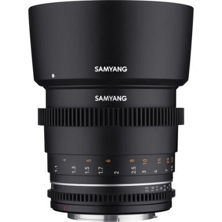 Samyang 85mm T1.5 VDSLR MKII Cine Lens for Nikon F Mount