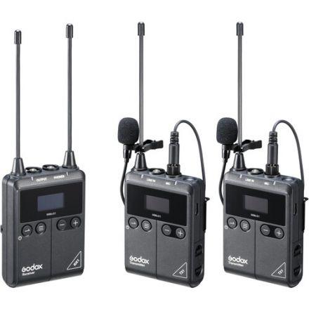 Godox WMicS1-Kit2 – UHF Kit Ασύρματου μικροφώνου πέτου (2Tx + 1Rx)