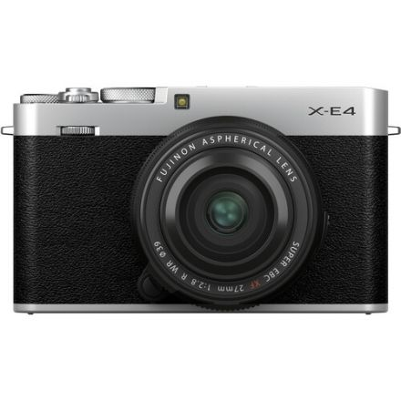 FUJIFILM X-E4 Mirrorless Digital Camera with XF 27mm f/2.8 R WR Lens (Silver)