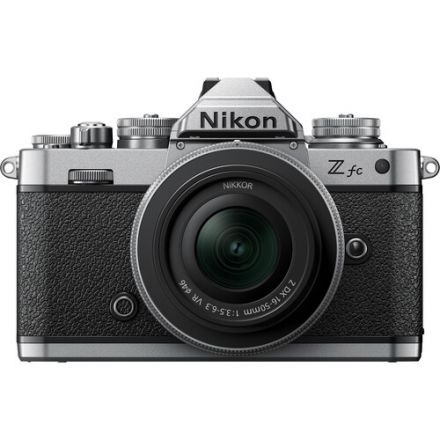 Nikon Z fc Mirrorless Digital Camera with 16-50mm  f/3.5-6.3 VR Lens (Silver) (με Cashback 100€)