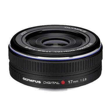 Olympus M.Zuiko Digital 17mm f/2.8 Lens for MFT (Black)