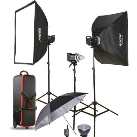 Godox MS200D-KIT - Manual Studio Flash Kit με 3x MS200 200Ws Studio Flash