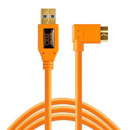 TETHER TOOLS TETHERPRO USB3.0MICRO-B RIGHTANGLE ORANGE(4.6m)