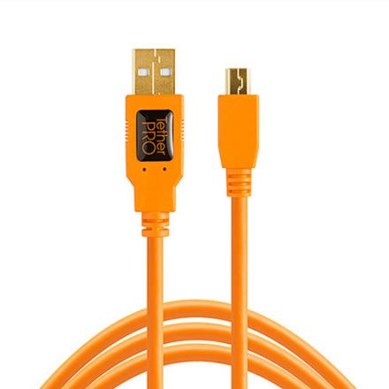 TETHER TOOLS TETHERPRO USB 2.0 MINI B 5PIN ORANGE(4.6m)