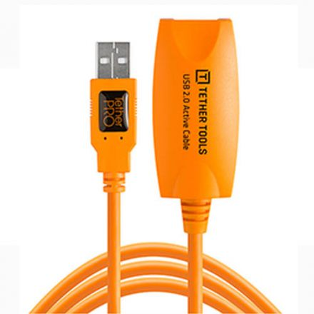 TETHER TOOLS TETHERPRO USB 2.0-FEMALE ACTIVE EXT ORANGE(4.6m)