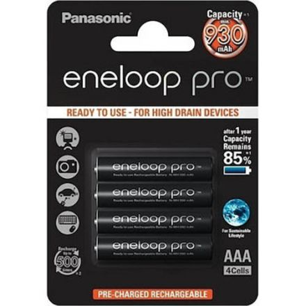 Panasonic Eneloop Pro AAA 930mah Rechargeable Ni-MH Batteries (4- Pack)