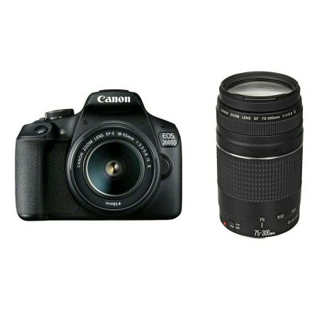 Canon EOS 2000D Διπλό Kit 18-55 IS II & 75-300