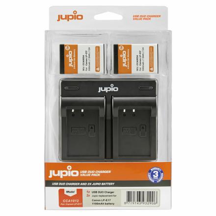 Jupio 2x Battery LP-E17 + USB Dual Charger
