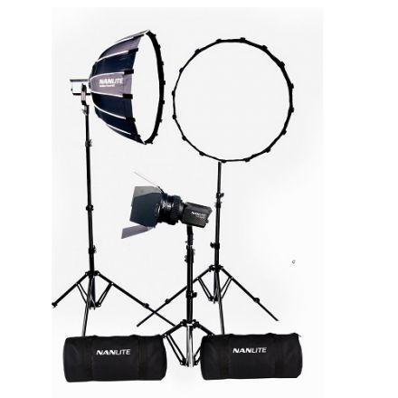 Nanlite NL-FZ60-BK3 – Forza 60B LED (τριπλό kit με θήκη, light stand, fresnel και softbox)