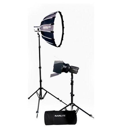 Nanlite NL-FZ60-BK2B – Forza 60B LED (διπλό kit με θήκη, light stand, fresnel και softbox)