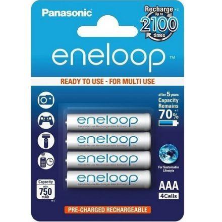Panasonic Eneloop AAA 750mah Rechargeable Ni-MH Batteries (4 Pack)