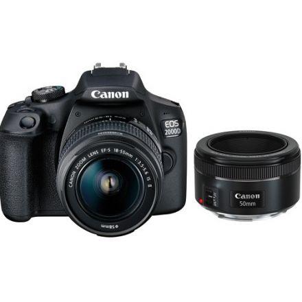 Canon EOS 2000D Kit  με EF-S 18-55mm IS II και Canon EF 50mm f1.8 STM