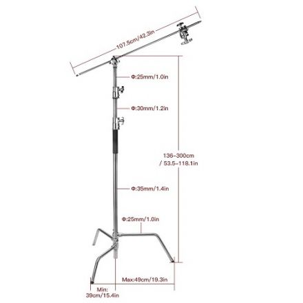 E-Image LCS-03S – C-Stand με Grip Arm