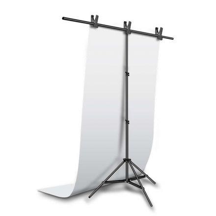 Jinbei φόντο PVC 100x200cm Λευκό με στήριγμα