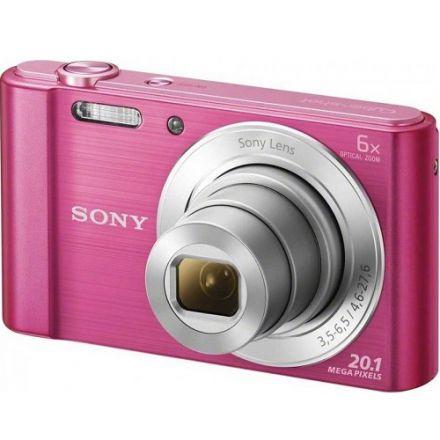 "Sony W810 Compact Φωτογραφική Μηχανή 20.1MP Οπτικού Ζουμ 6x με Οθόνη 2.7"" και Ανάλυση Video 1280 x 720 pixels (Pink)"