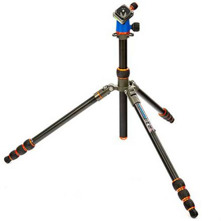 3 Legged Thing Travis Aluminum Travel with AirHed Neo Ball Head (Blue and Orange)